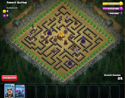 53. Forest Outing Goblin Base COC