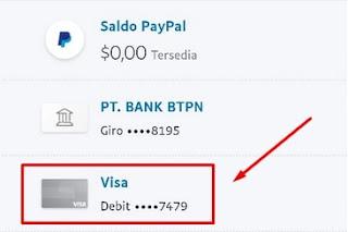 Informasi Kartu Debit Visa Jenius Paypal