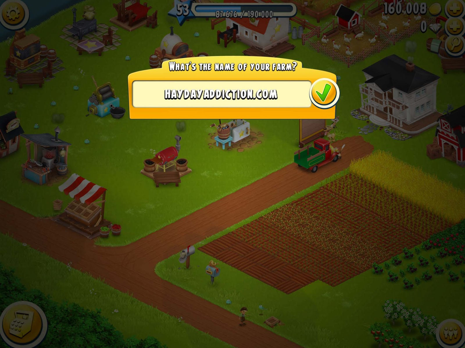 Hay Day Addiction: How to change your Roadside Shop names