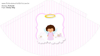 Brunette Angel Girl, Free Printable Cones.
