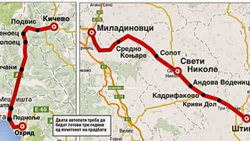 11 motorways to be built in Macedonia in next 5 years