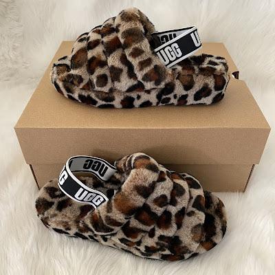 UGG Fluff Yeah Yeah leopard amphora