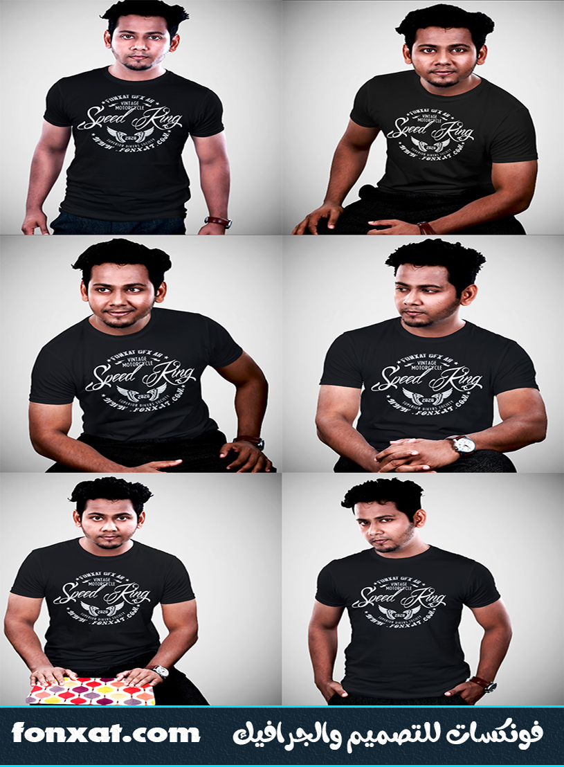 download mockup t shirt photoshop black 1