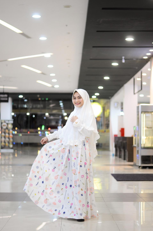 Gamis Muslimah Freya Broken White Do
