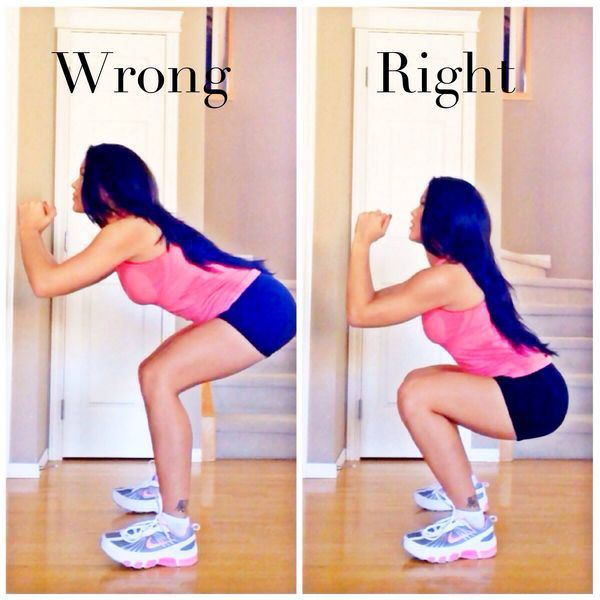21 Daily Things You've Been Doing Incorrectly All Your Life & How To Do Them Right - While doing squats, you need to bend until your thighs are parallel to the ground.