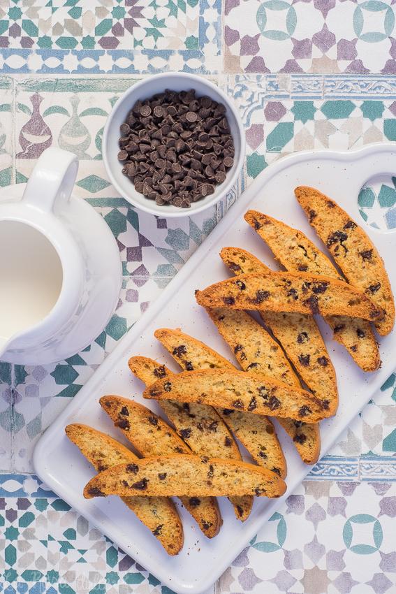 Biscotti con trocitos de chocolate #sinlactosa