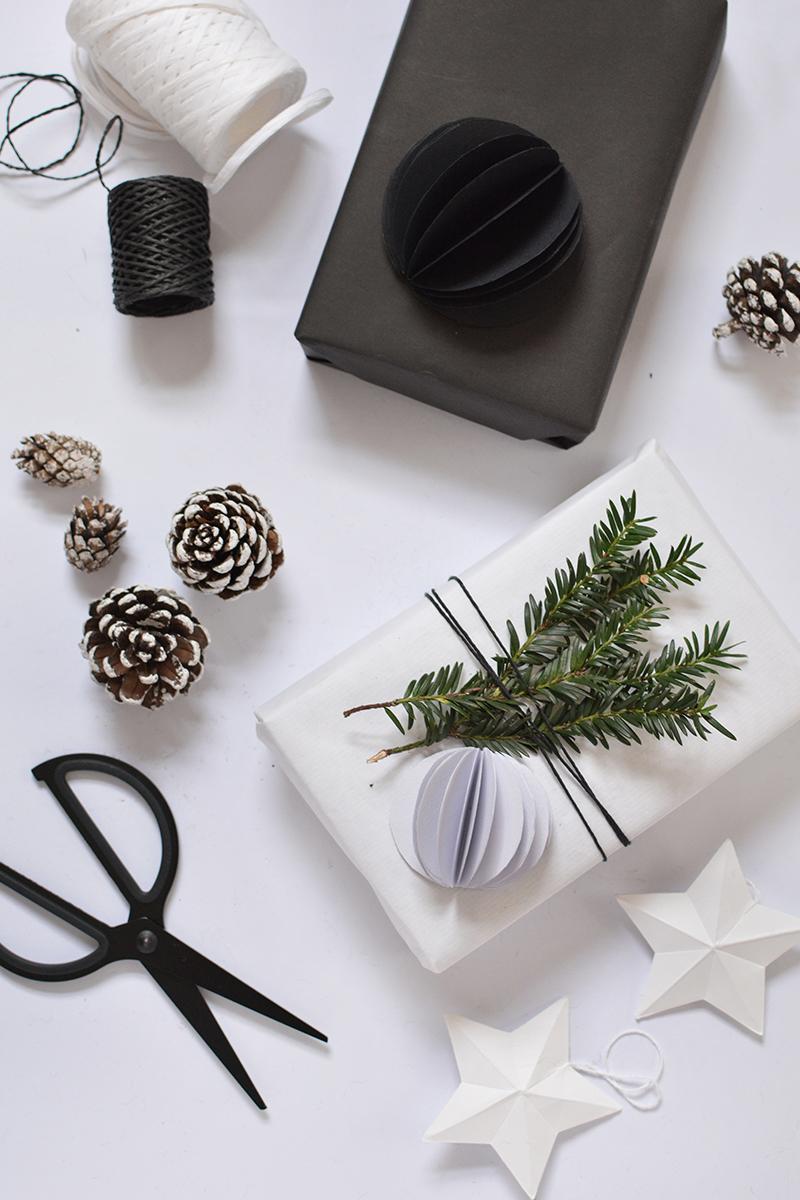 modern diy gift wrap