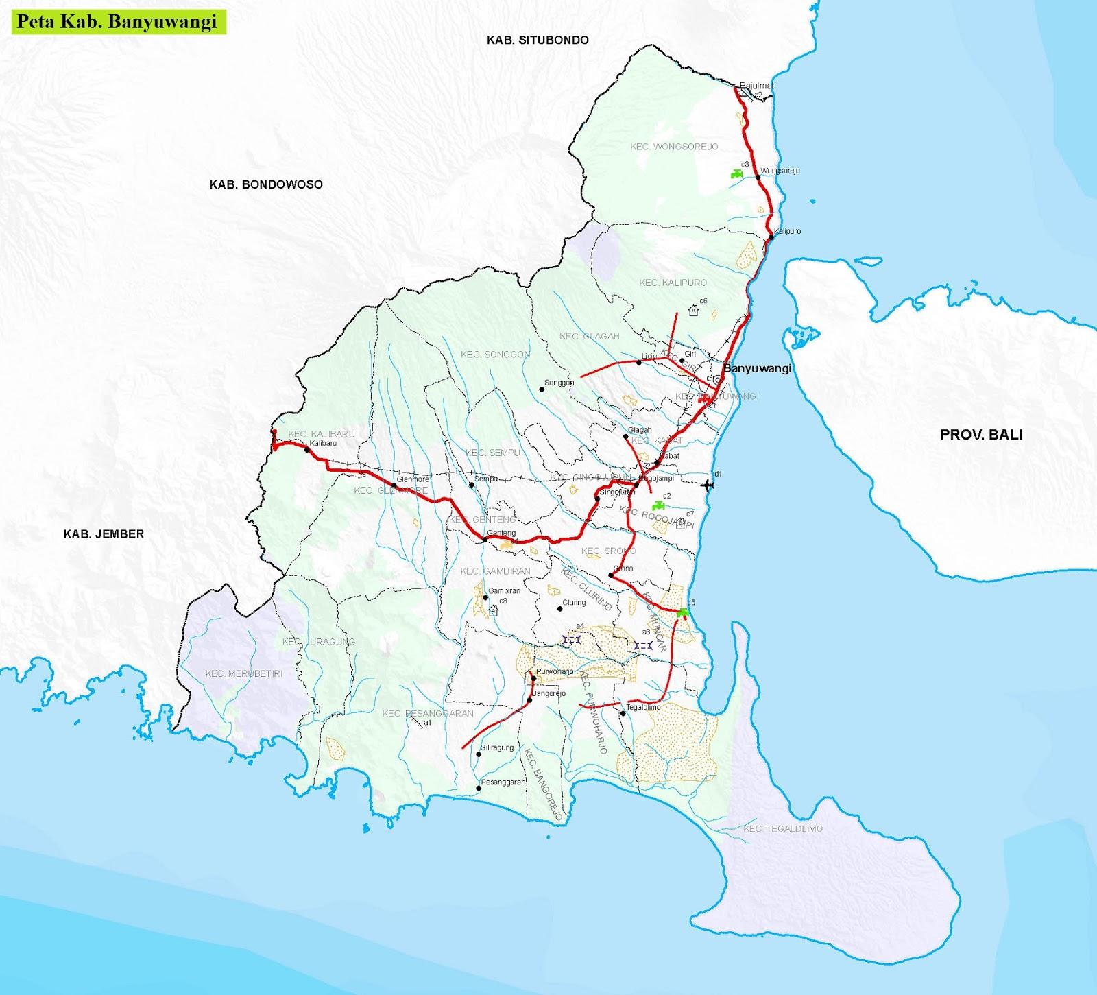 Peta Kabupaten Banyuwangi HD