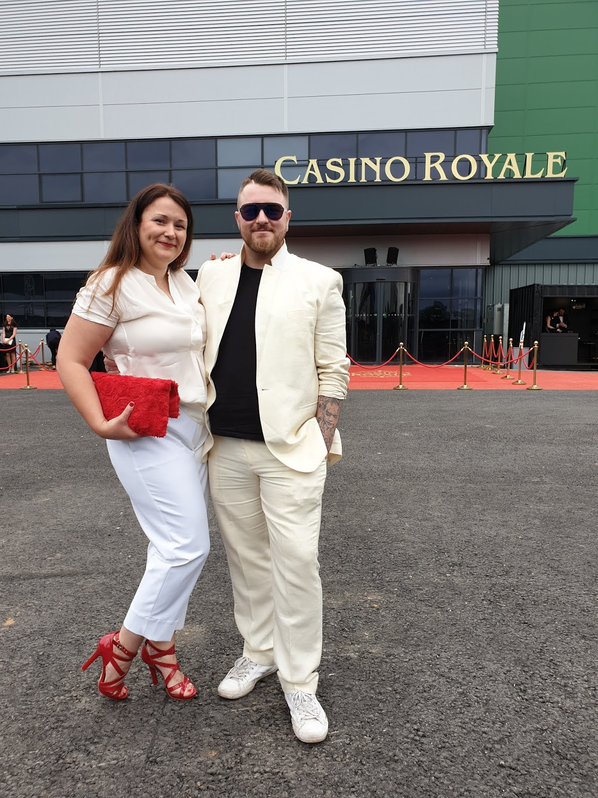 man and woman at casino royale secret cinema