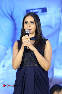 Actress Rakul Preet Singh Stills in Beautiful Blue Long Dress at Dhruva Salute to Audience Event  0059.JPG