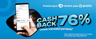 Promo Blue Bird Dapatkan Cashback 76 % Pakai GOPAY (s.d 10 September 2021)