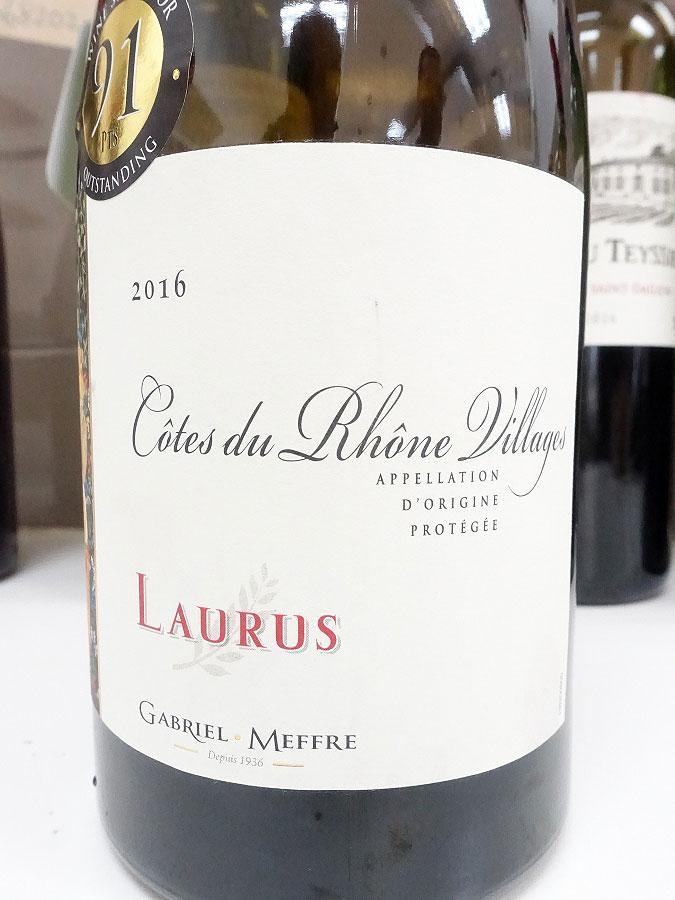 Gabriel Meffre Laurus Côtes du Rhône-Villages 2016 (89 pts)