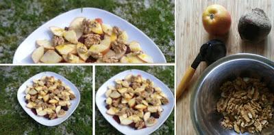 Salat aus roter Bete, Apfel und Walnüssen
