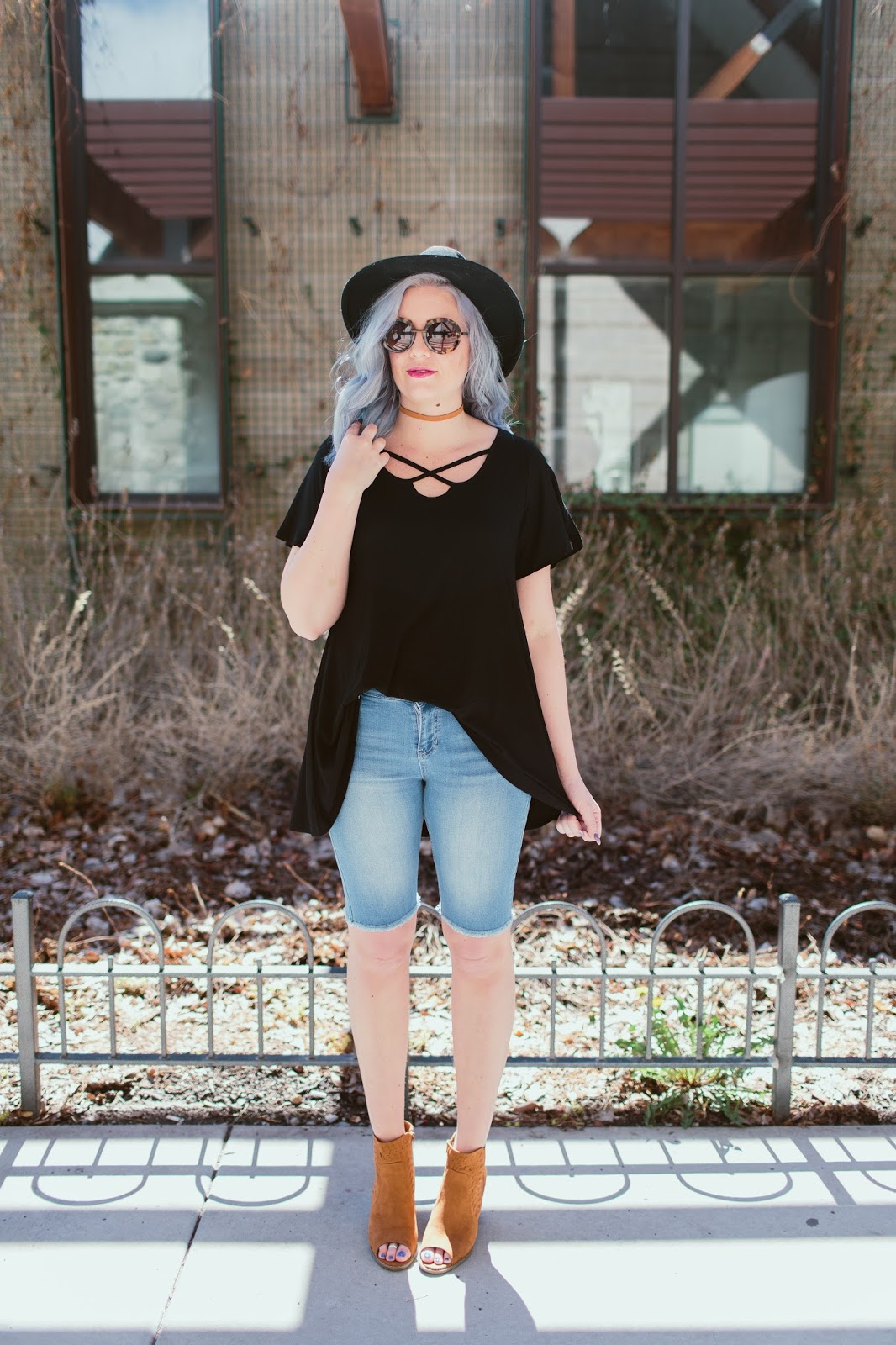 Tall Girl Style, Blue Hair, Utah Fashion Blogger