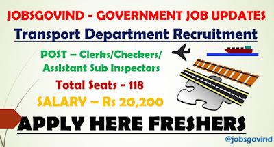 Transport Department Recruitment 2021
