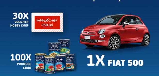 Concurs Cirio - Castiga o masina Fiat 500 - 2021 - concursuri - online - castiga.net