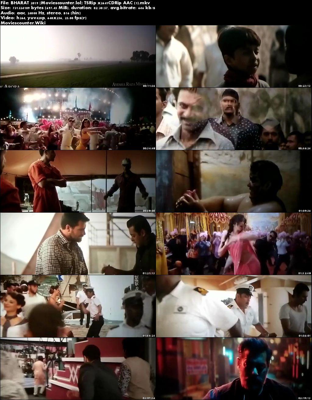 Screen Shots Bharat 2019 Hindi HD 720p
