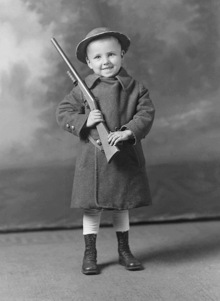 All The Girls Standing In The Line For The Bathroom: Vintage Photos Of Children With Guns