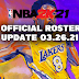 NBA 2K21 Official Roster Update 03.26.2021