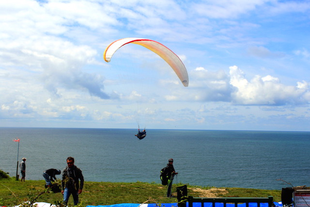 Paragliding in the Côte Basques France