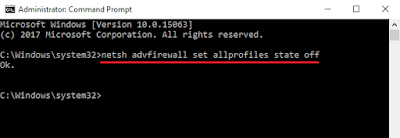 Mematikan Windows Firewall Melalui Command Prompt