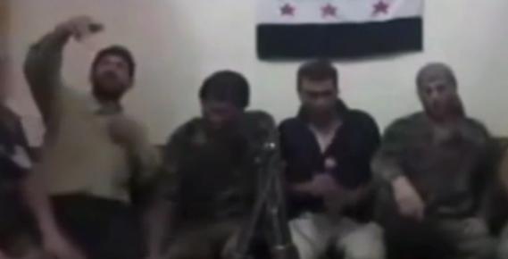 Syrian Rebel Accidentally Blows Himself & Comrades Up