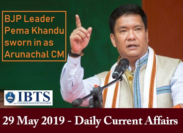 29 May 2019 - Daily Current Affairs