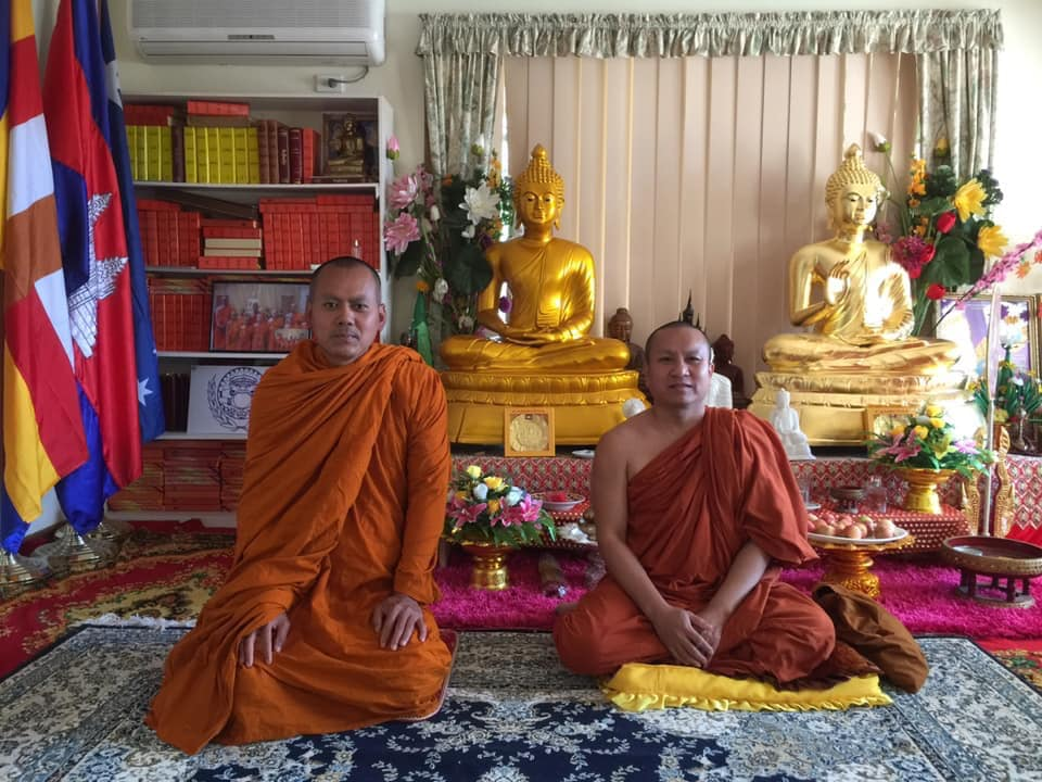 Preah Dhammaghosacarya Venerable Dr Khy Sovanratana Visited Wat Sereychum