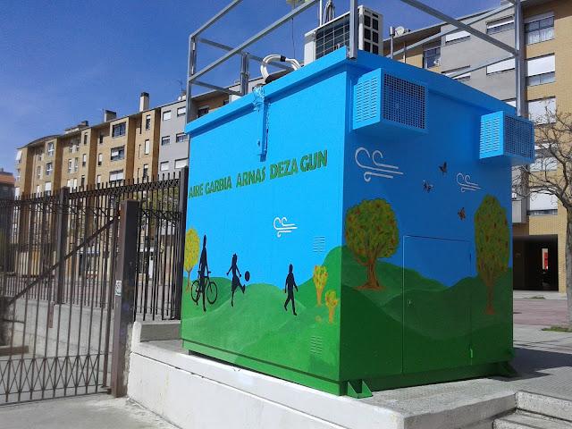 Estación decorada por el Colegio La Compasión Escolapios. Proyecto Educativo Life+Respira.