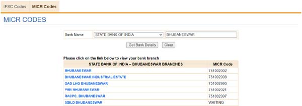 How to find the MICR code of any bank