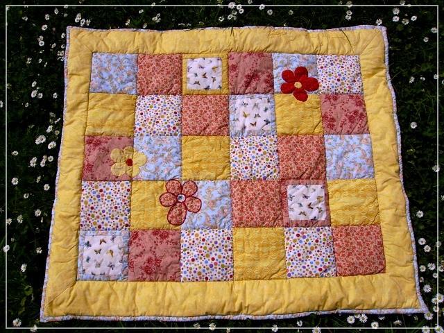 Babydecke, beginner project, quilt, baby blanket, patchwork, Puppilalla