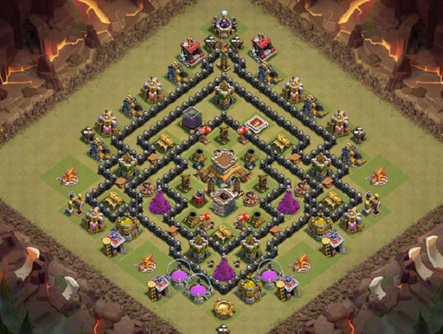 base terkuat anti PEKKA dan Naga Town Hall 8