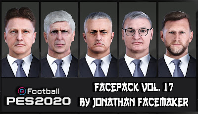 PES 2020 Facepack Vol 17 by Jonathan Facemaker