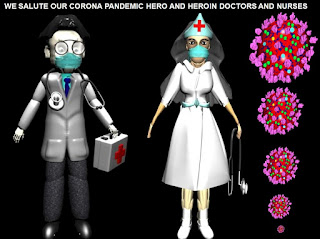 SOME 3D GRAPHICAL POSTS DURING CORONA PANDEMIC