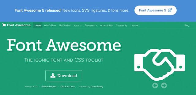 اضافة مكتبة font awesome لمدونة بلوجر
