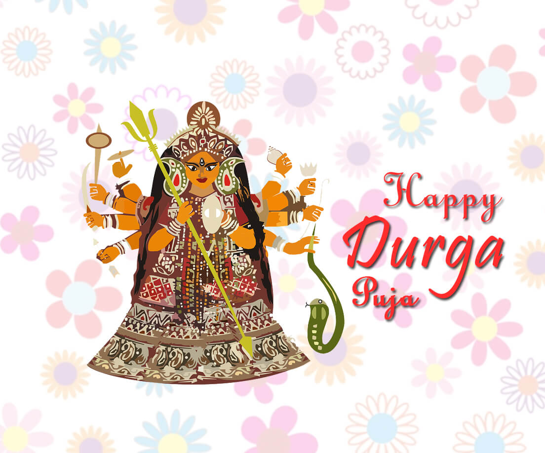 durga puja wishes quotes images in english
