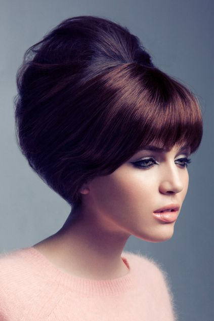 Beehive hairstyle popular in the Sixties Seventies Vintage Hairstyle - Popular Vintage