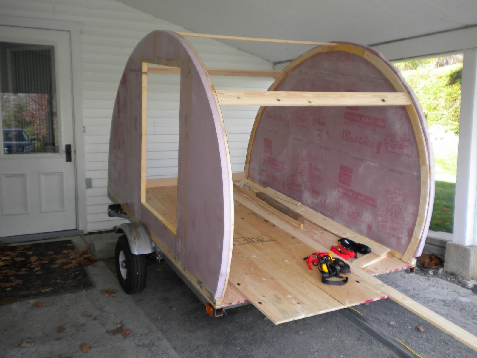 Teardroptrailerkit Construction Of My Teardrop Trailer