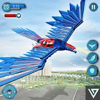 Flying Falcon Robot Hero : Robot Shooting Games for Android