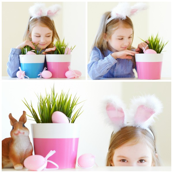 FUN EASTER PROJECT FOR KIDS: GROW YOUR OWN BASKET GRASS (My kids loved this!)