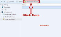 how to transfer bookmarks from one pc to another firefox