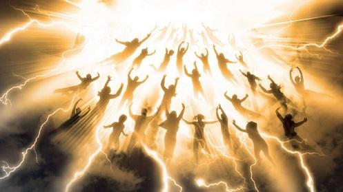 il giorno della grande battaglia tra le truppe della bestia e le truppe extraterrestri guidate da Gesù