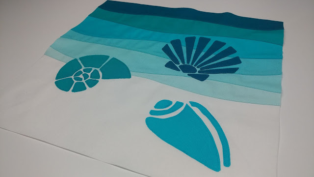Seashell quilt block