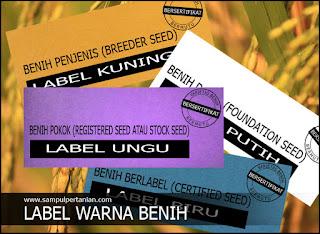 Arti warna label benih padi bersertifikat (Label Kuning, Putih, Ungu dan Biru)