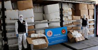 الجمارك التركية تضبط عدد ضخم من الكمامات كانت بطريقها إلى أوروبا
