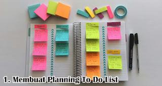 Membuat Planning To Do List merupakan salah satu manfaat sticky note