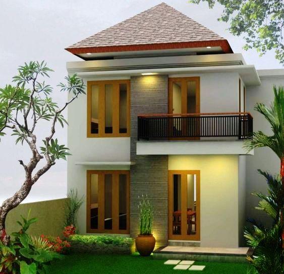 Rumah minimalis 2 lantai atap limasan dengan finishing polos