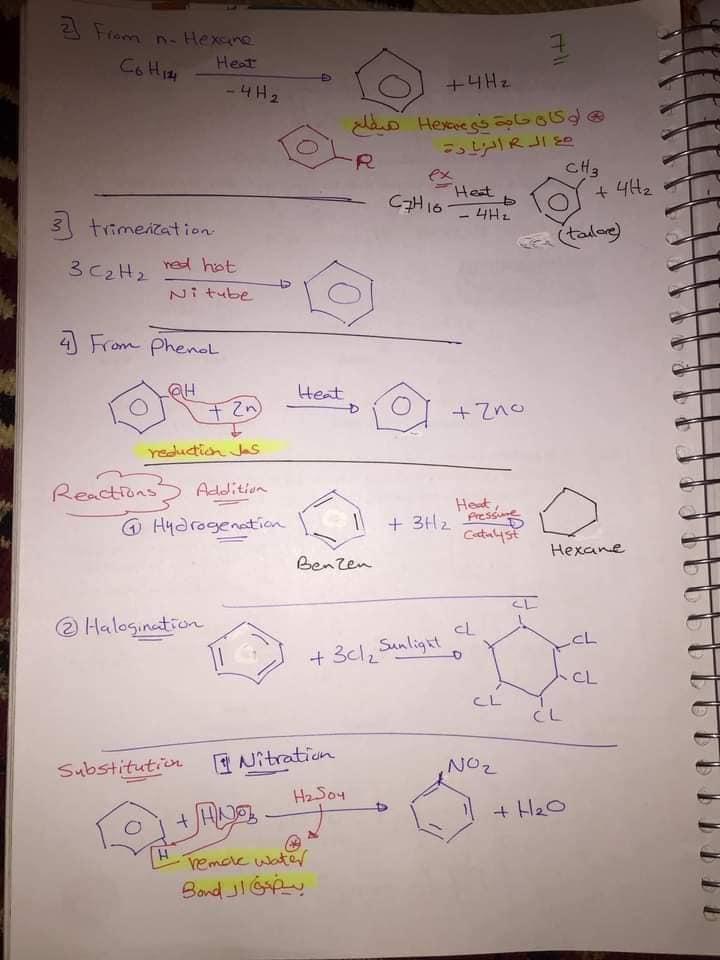 ملخص organic chemistry للثانوية العامة لغات 7