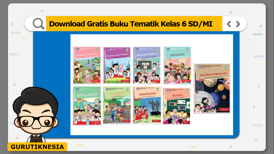 download gratis buku tematik kelas 6 sd/mi