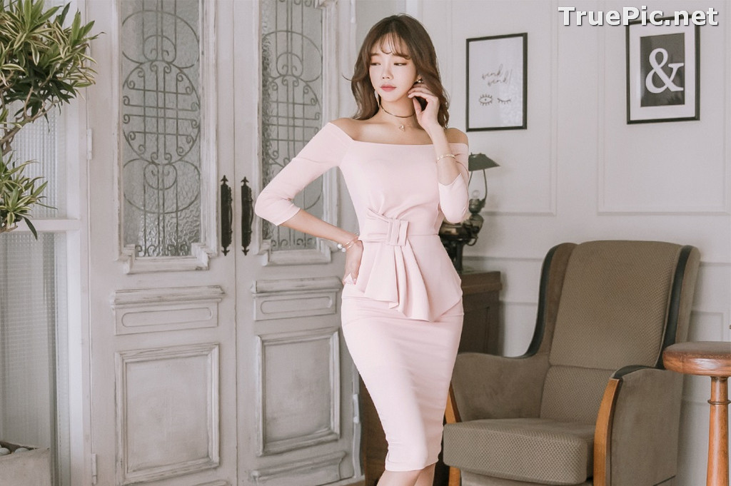 Image Korean Fashion Model - Kang Eun Wook - Slim Fit Bodycon Dress - TruePic.net - Picture-8